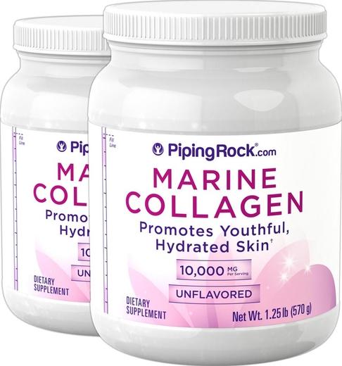 Marine Collagen Peptides Powder (Unflavored), 1.25 lb x 2 Bottles