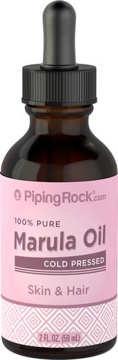 Óleo de marula 100% puro (óleo de sementes de maracujá), 2 fl oz (59 mL) Frasco conta-gotas