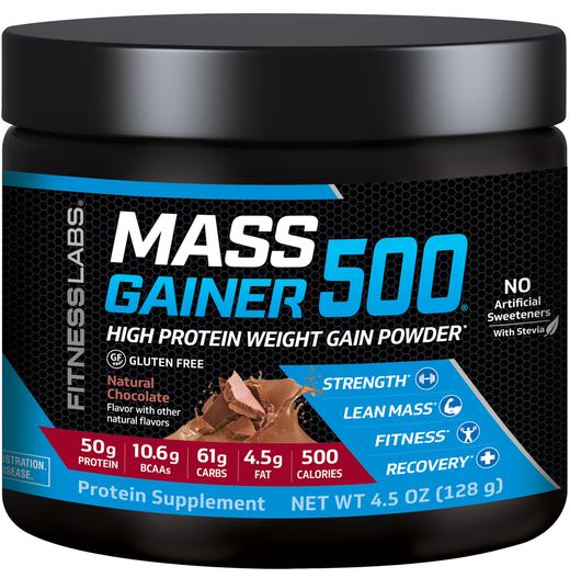 Mass Gainer 500 (czekolada naturalna) (próbka) 4.5 oz (128 g) size_units.unit.118