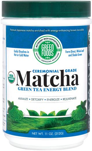 Matcha Green Tea Energy Blend Powder (Organic), 11 oz