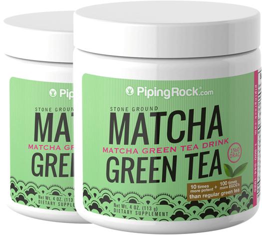 Chá verde em pó Matcha, 4 oz (113 g) Boião, 2  Jarras