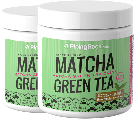 Green Tea Matcha Powder 2 Jars x 4 oz (113 grams) Jar