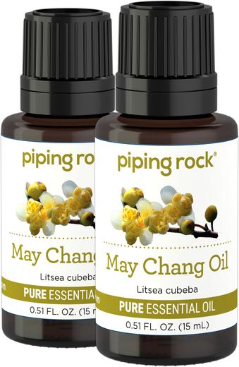 Olejek eteryczny o czystości z rośliny Litsea Cubeba (GC/MS Sprawdzono) 1/2 fl oz (15 mL) Butelka z zakraplaczem