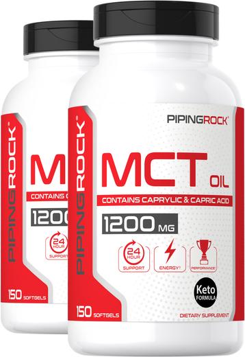 Olej MCT 150 Miękkie kapsułki żelowe o szybkim uwalnianiu