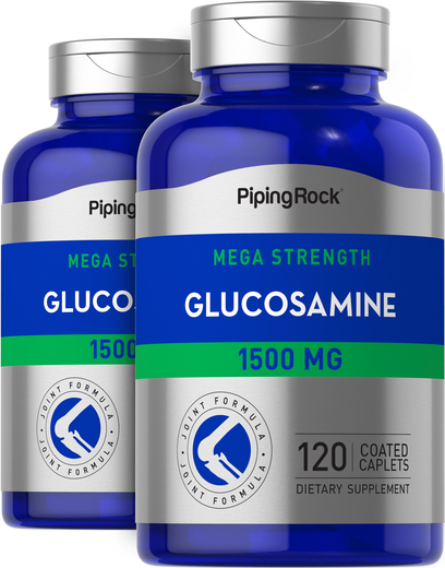 Mega Glucosamine 1500 mg 2 Bottles x 120 Coated Caplets