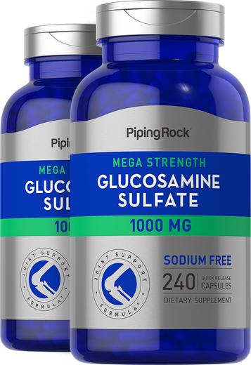 Mega Glucosamine Sulfate 1000 mg 2 Bottles x 240 Caps