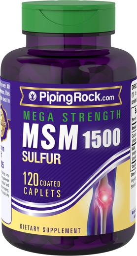 メガ MSM + 硫酸塩 120 コーティング カプレット