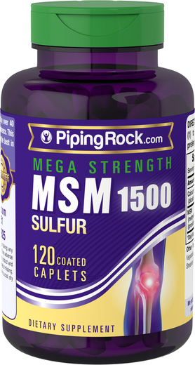 MSM 1500mg 120 Coated Caplets