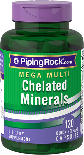 Chelated Mineral Supplements 120 Capsules