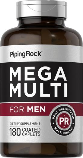 Mega múltiplo para homens, 180 Comprimidos oblongos revestidos