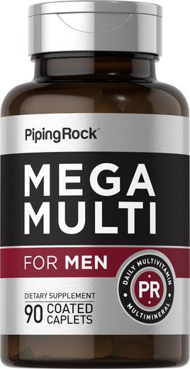 Mega múltiplo para homens, 90 Comprimidos oblongos revestidos