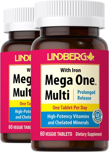 Mega One Multi z żelazem (przedłużone uwalnianie) 60 Tabletki wegetariańskie
