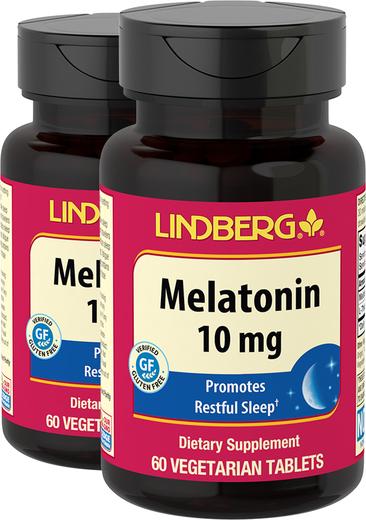 Melatonin 10 mg, 60 Tablets x 2 Bottles