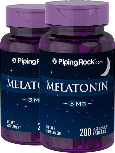 Melatonin 3mg 2 Bottles x 200 Fast Dissolve Tablets