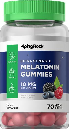 Melatonin Gummies (Natural Berry) 10 mg (per serving), 70 Gummies