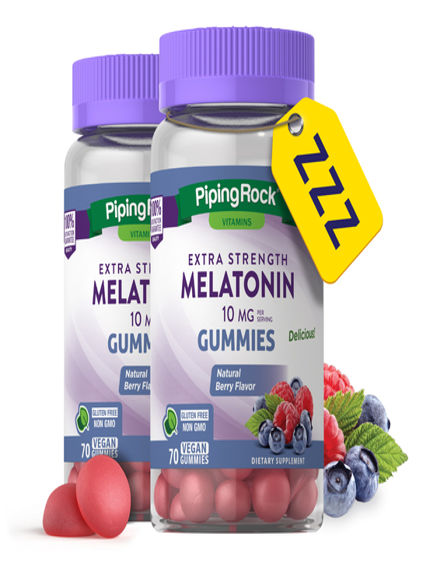 Melatonin Gummies (Natural Berry), 70 Gummies x 2 Bottles