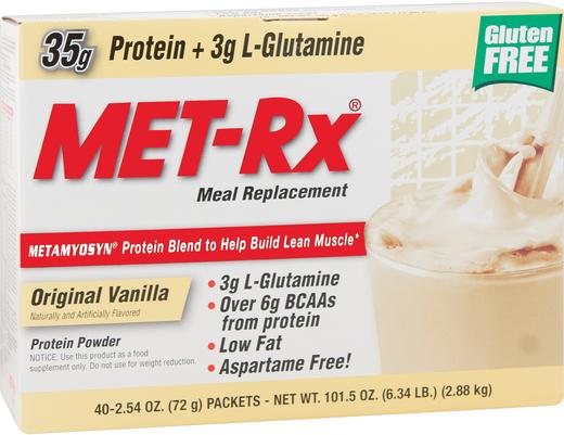 MET-Rx Meal Replacement (Original Vanilla), 40 Packets