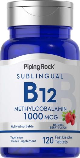 Metilcobalamina B12 (sublingual), 1000 mcg, 120 Comprimidos de dissolução rápida