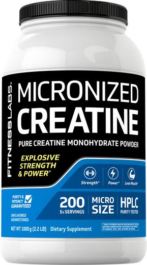Kreatyna mikronizowana w proszku 2.2 lb (1000 g) Butelka