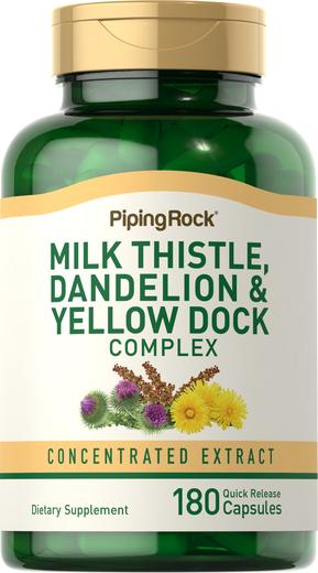 Milk Thistle Dandelion & Yellow Dock 180 Capsules
