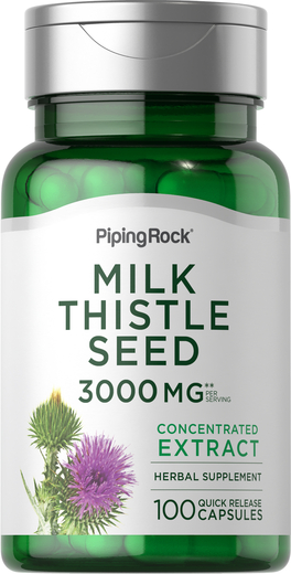 Milk Thistle Seed Extract 3000 mg (per serving), 100 Capsules