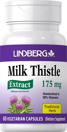 Milk Thistle Standardized Extract, 175 mg, 60 Veg Capsules