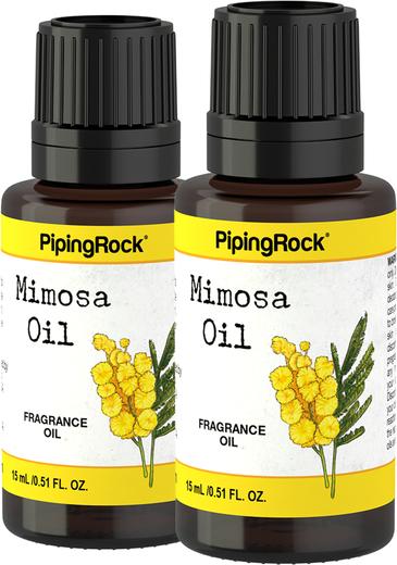 Óleo de Fragrância de Mimosa, 1/2 fl oz (15 mL) Frasco conta-gotas, 2  Frascos conta-gotas