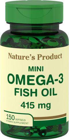 Mini omega-3 visolie 415 mg  citroensmaak 150 Softgels