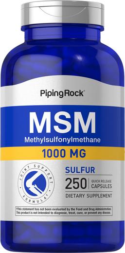 MSM 1000mg 250 Capsules