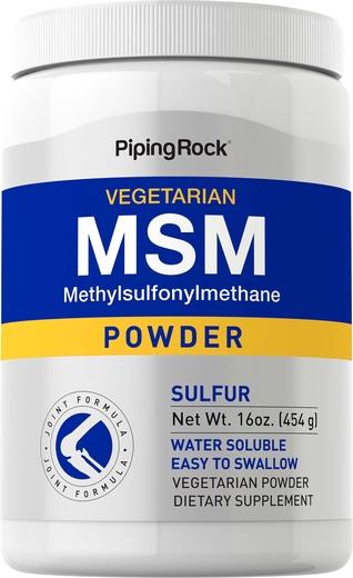 MSM (siarka) w proszku 16 oz (454 g) Butelka