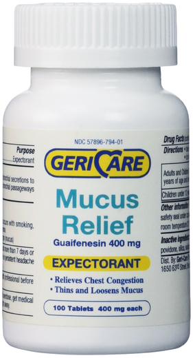 Mucus Relief (Expectorant) Guaifenesin 400mg 100 Tablets
