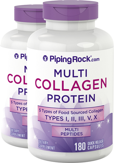 Multi Collagen Protein (Types I, II, III, V, X), 2000 mg (per serving), 180 Quick Release Capsules