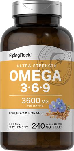 Multi Omega 3-6-9 Fish, Flax & Borage 240 Softgels