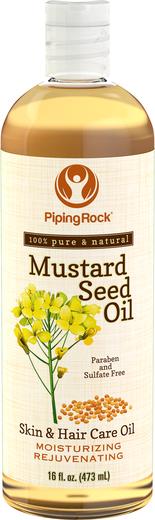 Óleo de semente de mostarda, 16 fl oz (473 mL) Frasco