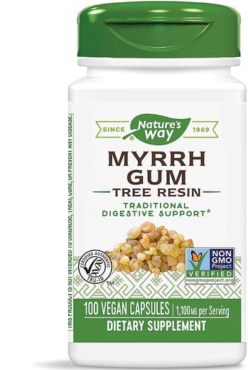 Myrrh Gum 1,100 mg (per serving), 100 Capsules