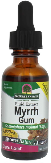 Płynny ekstrakt z gumy Myrrh 1 fl oz (30 mL) Butelka z zakraplaczem