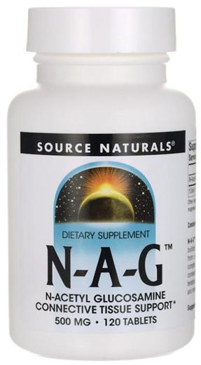 N-A-G (N-Acetyl Glucosamine), 500 mg, 120 Comprimidos