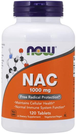 N-acetilcisteína (NAC), 1000 mg, 120 Comprimidos