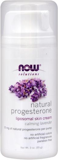 Natural Progesterone Liposomal Skin Cream (Calming Lavender), 3 oz (85 g) Pump Bottle