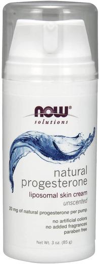 Natural Progesterone Cream (Unscented), 3 oz (85 g) Pump Bottle