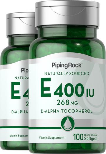 100% Natural Vitamin E-400 IU 100 Capsules