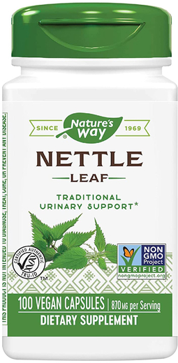 Nettle Leaf, 870 mg (per serving), 100 Vegetarian Capsules