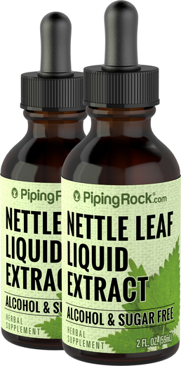 Nettle Leaf Liquid Herbal Extract Alcohol Free 2 x 2 fl oz (59 mL) Dropper Bottle