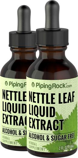 Extracto líquido de hoja de ortiga, sin alcohol 2 fl oz (59 mL) Frasco con dosificador