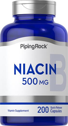 Buy Niacin 500mg 200 Capsules