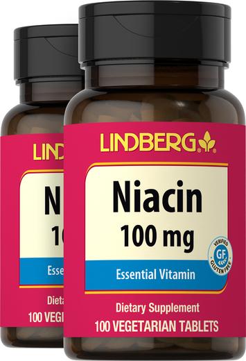 Niacin (B-3) 100 mg, 100 Tablets x 2 Bottles