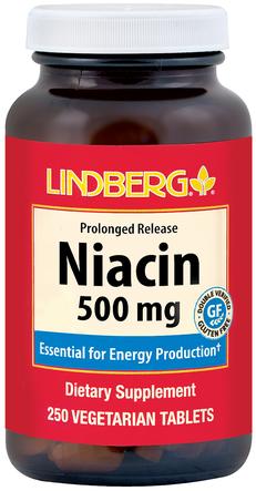 Niacyna (przedłużone uwalnianie) 250 Tabletki wegetariańskie