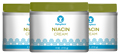 Niacin Skin Cream 3 Jars x 4 oz (113 g)