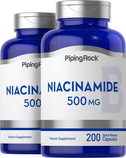 Niacinamide 500 mg B-3 2 x 200 Capsules