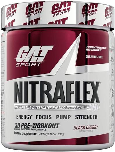 Proszek Nitraflex (czarna wiśnia) 10.6 oz (300 g) Butelka